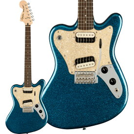 Squier by Fender Paranormal Super-Sonic Laurel Fingerboard Pearloid Pickguard Blue Sparkle エレキギター 【スクワイヤー / スクワイア】【予約受付中:納期未定】
