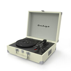 ONKYO Classic Series OCP-01 (Vintage White) ポータブルレコードプレーヤー Bluetooth搭載 【オンキョー】