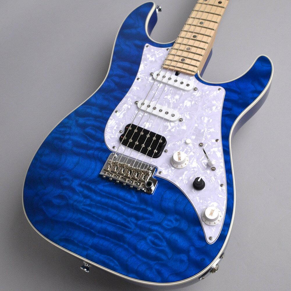 【エントリーでポイント5倍!! 11/22(水)9:59まで】 James Tyler JAPAN STUDIO ELITE HD 5A Quilted Maple /Solid Alder Back /Multi Binding /Maple /Transparent Blue MH ギター 【ジェームスタイラー】 【新宿PePe店】