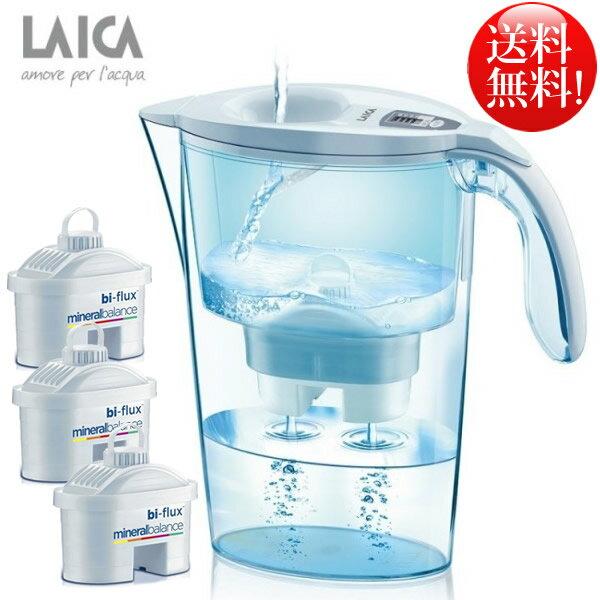 LAICA ライカ ポット型浄水器 2.3L カートリッジ付き 浄水機 ミントグリーン 母の日