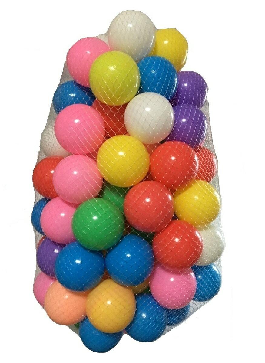 カラーボール 7色 50個2袋 100個入り 直径7cm やわらかポリエチレン製 ボールプール ベビーサークル カラフルボール やわらかい こどもプール 遊具 子供 キッズ 幼児(プール/ボールハウス用) プレゼント ギフト イベント
