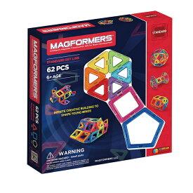 マグフォーマー MAGFORMERS 豪華 62ピースセット MAGFORMERS ブラックデザイン マグネットブロック 創造力を育てる知育玩具 想像力 磁石 パズル ブロック プレゼント ギフト 誕生日 知育玩具 認知症 クリスマス ラッピング こどもの日 並行輸入品