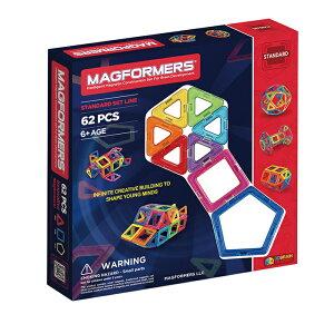 マグフォーマー MAGFORMERS 豪華 62ピースセット MAGFORMERS ブラックデザイン マグネットブロック 創造力を育てる知育玩具 想像力 磁石 パズル ブロック プレゼント ギフト 誕生日 知育玩具 認知