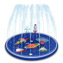 スプラッシュサークル 噴水マット 直径 170cm 噴水プール 浮き輪 浮き輪マット 子供 プール ビニールプール 水遊び お…