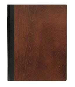 シンビ(SHIMBI) メニューブック【#1900-4(木製 茶)】a4 A4サイズ対応 白木