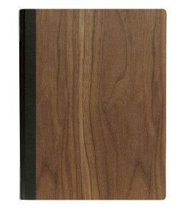 シンビ(SHIMBI) メニューブック【#1900-K(木製 ウォルナット)】a4 A4サイズ対応 白木