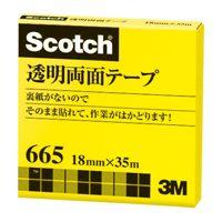 【スリーエムジャパン】 透明両面テープ 665−3−18 18mm×35m ★お得な10個パック