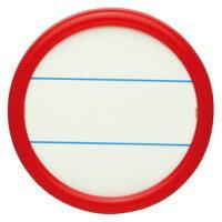 【ソニック】 丸型名札 NF−15−R 両用 大 赤