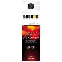【ドトールコーヒー】 ドトールアイスコーヒー無糖 1000ml×6本