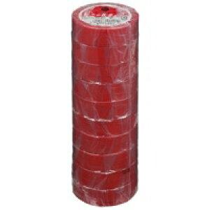 ヤマト ビニールテープ NO200-19 19mm*10m 赤 10巻★お得な10個パック