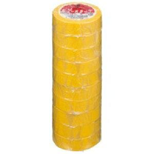 ヤマト ビニールテープ NO200-19 19mm*10m 黄 10巻★お得な10個パック