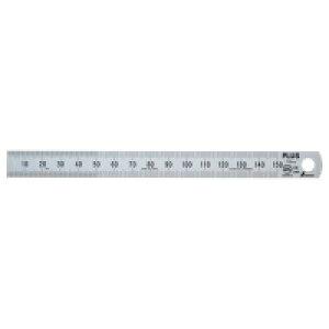プラス ステンレス直尺 15cm×0.5mm厚 シルバー★お得な10個パック