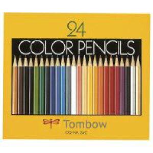 トンボ鉛筆 色鉛筆CQ−NA24C24色紙箱入