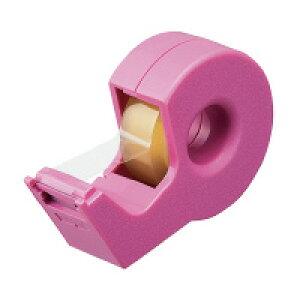 コクヨ T-SM300NPテープカッター「カルカット」 ハンディタイプ小巻き ピンク入数:1