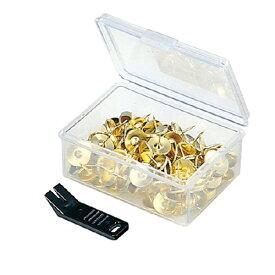 コクヨ二重画鋲 プラケース入 約130本入 ゴールドカヒ−3 ★お得な10個パック