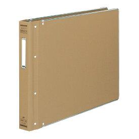 コクヨバインダーMP(布貼りタイプ) B4横 26穴 縁金付約200枚収容ハ−129