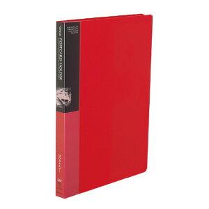 コクヨ キャンパス ポストカードホルダー固定式 A4縦 横入れ120ポケット 赤 ハセ−220NR ★お得な10個パック