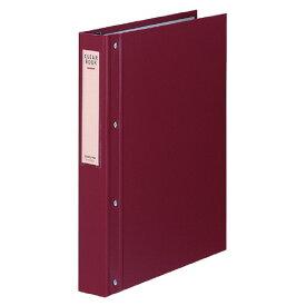コクヨクリヤーブック(大量とじタイプ) A4縦 替紙式40枚ポケット30穴 赤ラ−E100R