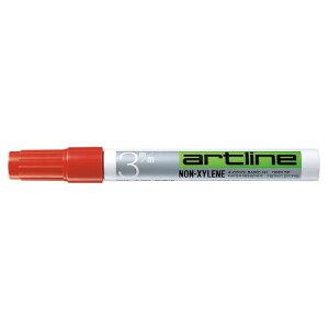 シヤチハタアートライン油性マーカー 丸3 インク色:赤K−70アカ ★お得な10個パック