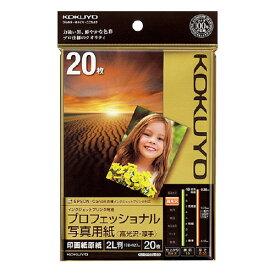 コクヨIJP用紙 プロフェッショナル写真用紙 高光沢 ・厚手 2L 20枚KJ−D102L−20 ★お得な10個パック
