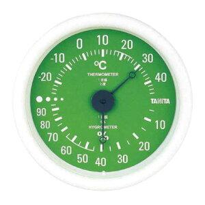 タニタアナログ温湿度計 壁掛け式 グリーンTT−515−GR ★お得な10個パック