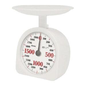 ドリテック アナログ料理はかり 2kg計 ホワイト KS−290