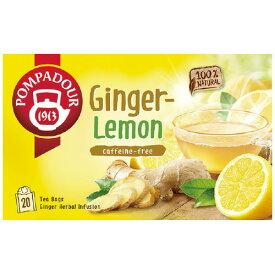日本緑茶センター #ポンパドール ティーバッグ ジンジャー&レモン 20バッグ 71053
