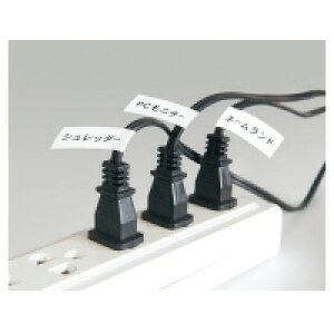 カシオ計算機 XR-18HMWEネームランド テープカートリッジ 配線マーカーテープ 白に黒文字18mm幅入数:1