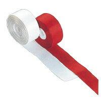 【オープン工業】 テープカット用紅白テープ レーヨン 赤/白 KS-60 入数:1 ★お得な10個パック★