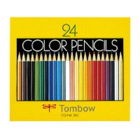 【トンボ鉛筆】 色鉛筆 紙箱入り 24色セット CQ-NA24C 入数:1 ★ポイント5倍