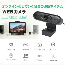 Webカメラ マイク内蔵 フルHD 1080P ウェブカメラ 90°広角画角 30FPS 自動光補正 PCカメラ ドライバ不要 usbカメラ 小型 軽量 在宅勤務 ビデオ会議 テレワーク用カメラ オンライン授業 教育用 ゲーム実況 動画配信