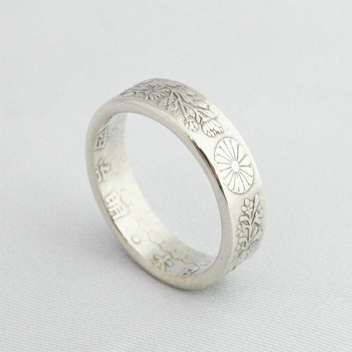 【白銀環/白銀環〜玄〜】 指輪 メンズ レディース シルバー 日本製 和柄 和風 匠 古銭 コインリング ペアリング おすすめ ゆびわ 【送料無料】