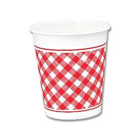 紙コップ 7オンス 業務用 HEIKO ペーパーカップ ギンガム赤 100個