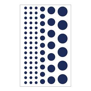 【お取り寄せ】タックラベル 丸 ネイチャーカラー ブルーベリー HEIKO サイズアソート 1束(216片)