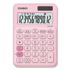 電卓 カシオ計算機 ミニジャスト型 12桁 MW-C20C-PK-N 1台