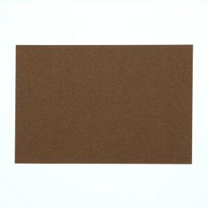 色無地カード はがきサイズ カカオ HEIKO 20枚