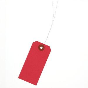 荷札 中 42×90 赤