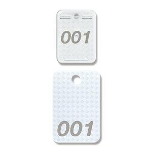 BF−160−WH クロークチケット 1〜20 白