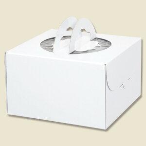 ケーキ箱 手提げデコ箱 ホワイト 5号 10枚