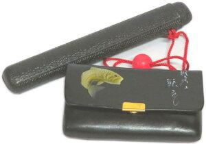 煙草入れ:鯉柄(かます)キセル入れ・プラスティック 牛革製【わけあり】【踊り用小道具】廃番商品・現品限り