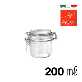ガラス密封瓶 200ml イタリア製 フィドジャー 保存容器 ガラス 密封 瓶 密閉 密閉容器 保存瓶 長期保存 キャニスター おしゃれ Bormioli Rocco ボルミオリロッコ