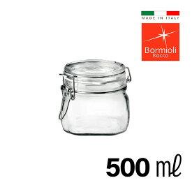 ガラス密封瓶 500ml イタリア製 フィドジャー 保存容器 ガラス 密封 瓶 密閉 密閉容器 保存瓶 長期保存 キャニスター おしゃれ Bormioli Rocco ボルミオリロッコ