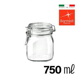 ガラス密封瓶 750ml イタリア製 フィドジャー 保存容器 ガラス 密封 瓶 密閉 密閉容器 保存瓶 長期保存 キャニスター おしゃれ Bormioli Rocco ボルミオリロッコ
