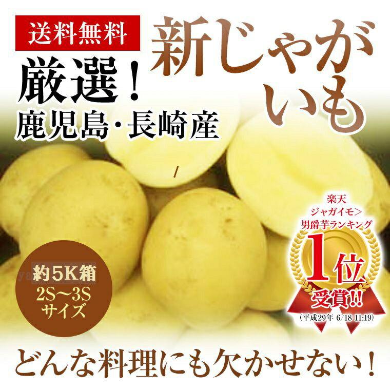 九州長崎・鹿児島産新じゃがいも約5K箱2S〜3Sサイズコロコロと可愛い!