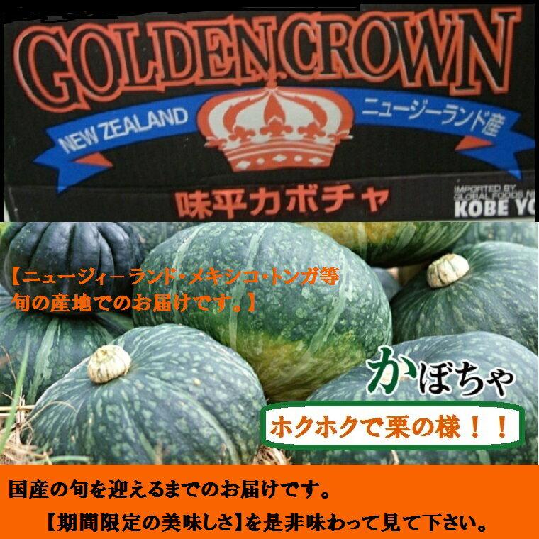 輸入かぼちゃ 約10K【5〜7玉箱】【送料無料】【smtb-T】ホクホクのかぼちゃ!