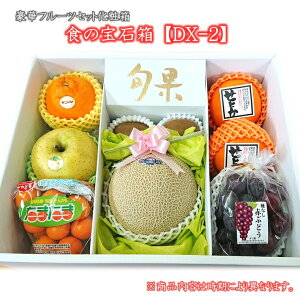 食の宝石箱【DX-2】プレミアポックス豪華フルーツセット化粧箱【メロン入り】厳選した最高級果物セット《果物 詰め合わせ》《フルーツ 盛り合わせ 》《法事 お供え 》【お中元対応】