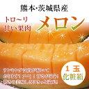 【父の日対応】熊本・茨城県産赤肉メロン【クインシーメロン】or【マリア-ジュメロン】 Lサイズ以上1個化粧箱入りラッピング付き【送料無料】
