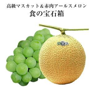 最高級セット食の宝石箱【シャインマスカット大1房&アールスメロン大玉1玉】お奨めのフルーツセット《果物 詰め合わせ》《フルーツ 盛り合わせ 》