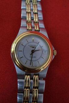 手錶LONGINES、浪琴K18、圓形石英滯銷商品石英女士7282.4.453