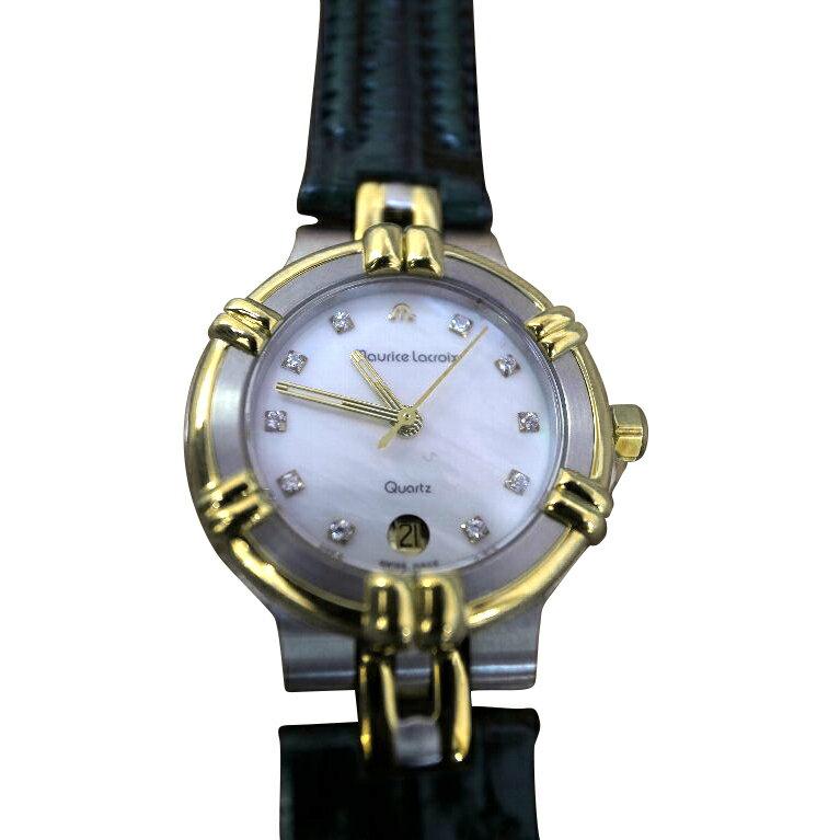 【送料・代引き手数料無料】腕時計 モーリス・ラクロア maurice lacroix レディース クォーツ デッドストック 75344-1506 【送料・代引き手数料無料】